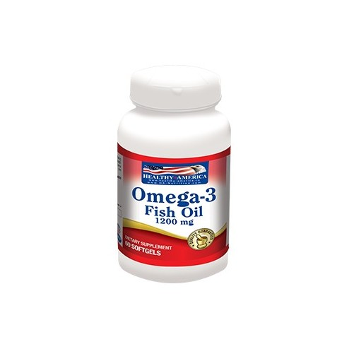 Omega-3 Fish Oil (EPA, DHA) 1200 Mg  Helthy America x 60 Softgels
