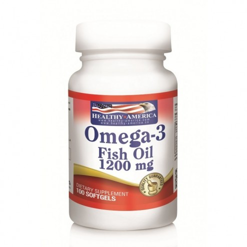 Omega-3 Fish Oil (EPA, DHA) 1200 Mg  Helthy America x 100 Softgels