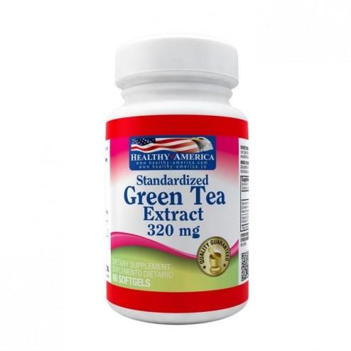 Green Tea Extreact  x 320 mg Te Verde 60 Capsulas Healthy America