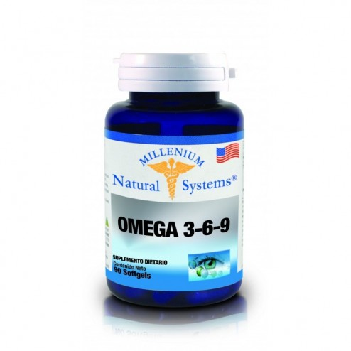 Triple Omega 3-6-9 Millenium Natural Systems x 90 Softgels