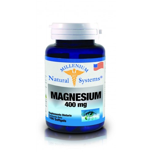 Magnesium 400mg X 100 Softgels Natural Systems