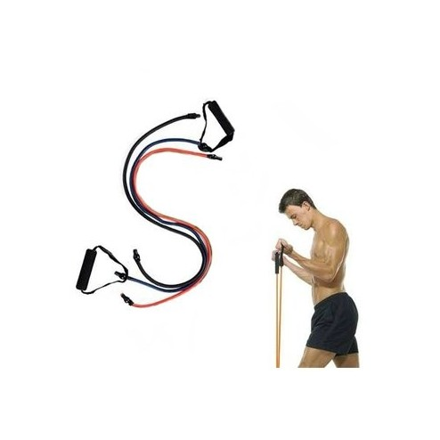Bandas Resistencia Elásticas Tubulares X 3 Gimnasio Pilates