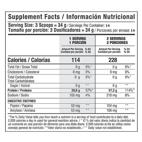 Iso Whey 100% Protein Hydrolyzed De Healthy Sports X 1 Libra
