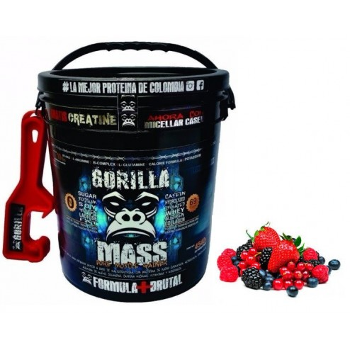 Gorilla Mass Sabor Frutos Rojos x 10lbs + Obsequio