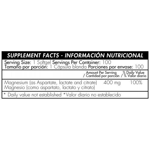 Super Mangnesium 400mg x 100 Softgels - Healthy America
