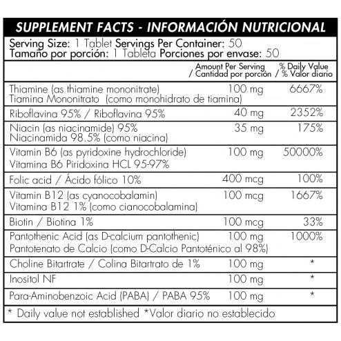 B-100 Complex x 50 Tabletas - Healthy America