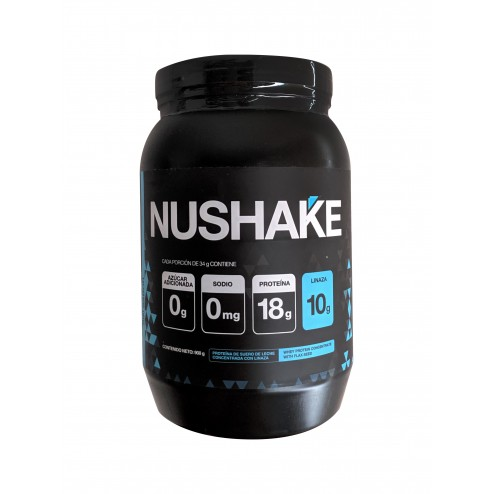 Nushake Whey Protein Concentrate Con Linaza X 908 Gr