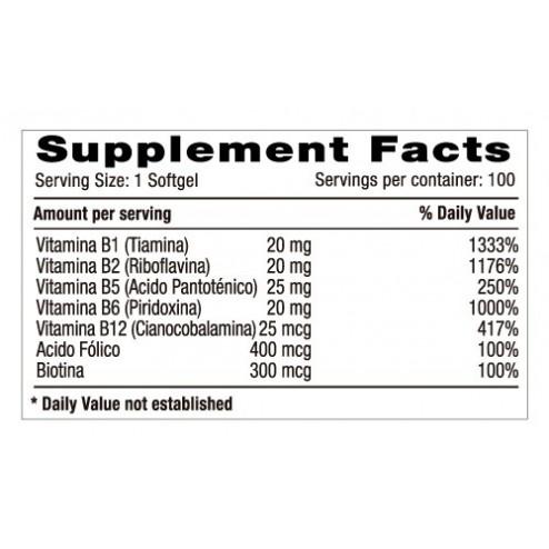 Balanced Super B Complex x 100 Softgels - Natural Systems