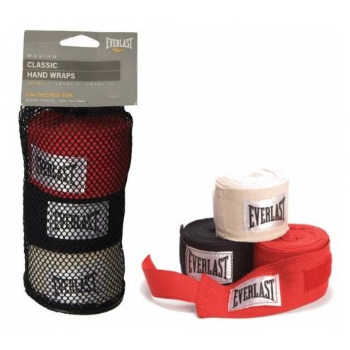 Vendas Everlast Set 3 Pares Blanca/negra/roja Boxeo, Mma 120