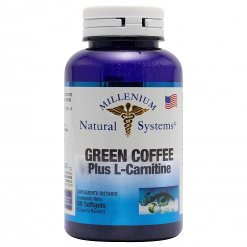 Green Coffee Plus L-Carnitine x 60 Softgels Millenium Natural Systems
