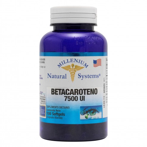 Betacaroteno 7.500 u.i. x 100 Softgels Millenium Natural Systems