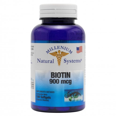Biotin 900 mcg x 100 Softgels Natural Systems