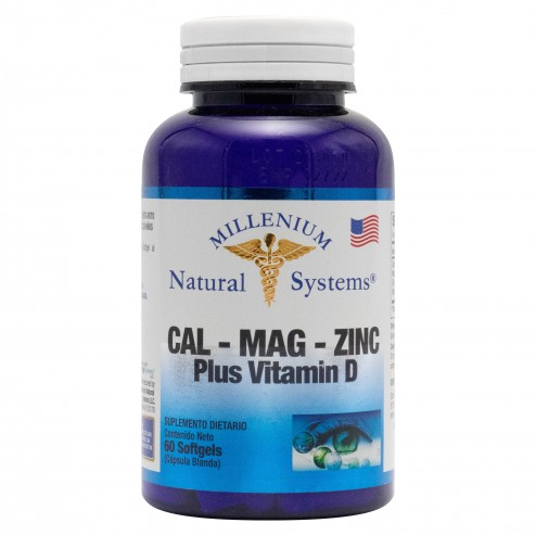 Cal-Mag-Zinc con Vitamina D x 100 Softgels Natural Systems