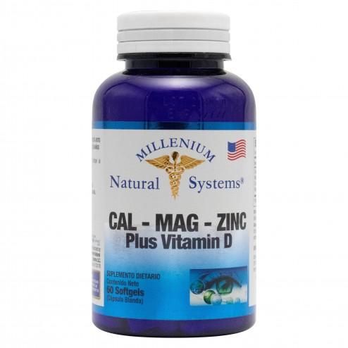 Calcio Magnesio Zinc con Vitamina D Systems