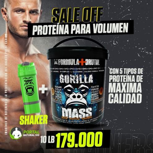Oferta 10 libras de Proteína Gorilla + Shaker