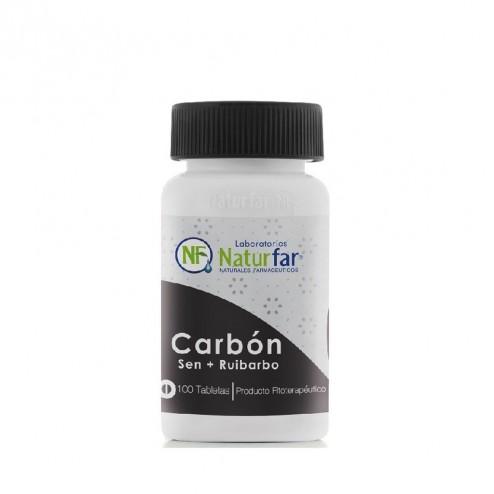 Carbon Vegetal + Sen + Ruibarbo 100 tab