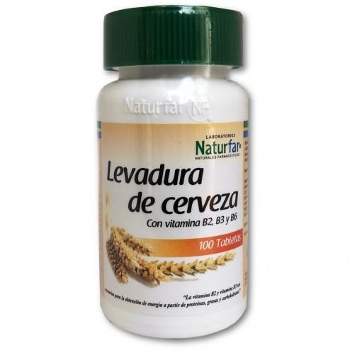 Levadura de Cerveza con Vitamina B2, B3 y B6 por 100 tabletas Naturfar