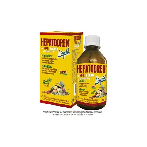 Hepatodren Triple Aaccion 240 ML Sabor Menta