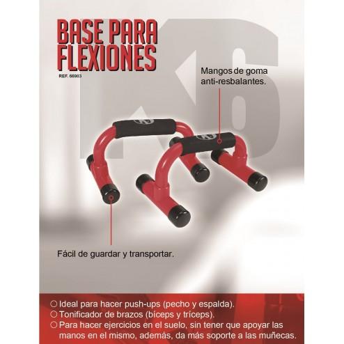 Barras Soporte Para Flexiones Clásica Push Up K6 Rojo