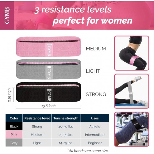 Booty 3 bandas de resistencia para piernas y glúteos, bandas de ejercicio, bandas de fitness,
