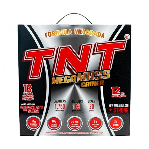 Tnt Mega Mass Gainer Sabor Chocolate x 12 Lbs - Neopharma