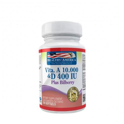 Vitamina A 10.000 Iu x 100 Cápsulas - Healthy America