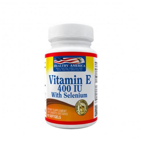 Vitamina E 400iu + Selenio x 60 Softgels - Healthy America