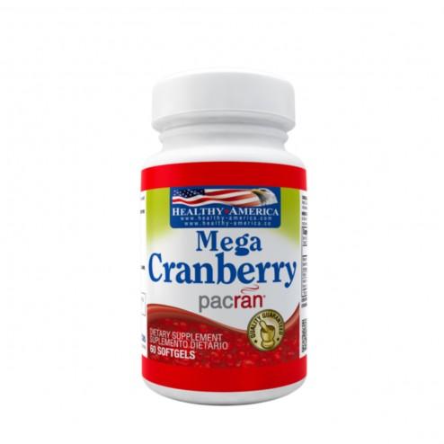 Mega cranberry 850mg x 60 Softgels - Healthy America