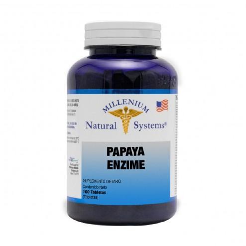 Papaya Enzime x 100 Tabletas - Natural Systems